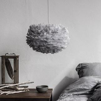 Fjäderlampan Eos grå - Eos Medium grå
