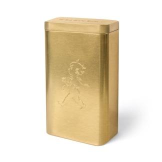 Guldfärgad kaffeburk från Solstickan -