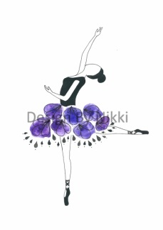 Poster Arabesque en pointe -