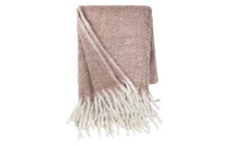 Ullfilt dusty pink - Kuddfodral i linne m tofsar ombre blue