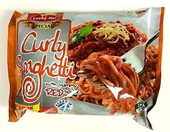 Curly Spaghetti With Red Sauce