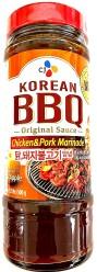 CJ Korean BBQ Chicken & Pork Marinade Hot 500g