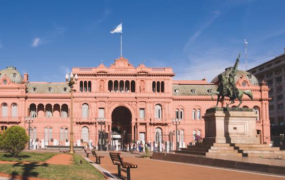 Presidentpalatset Casa Rosada ritat av den svenske arkitekten Henrik Åberg