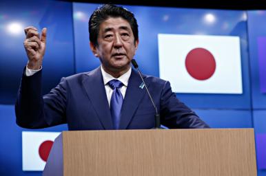 Premiärminister Shinzo Abe