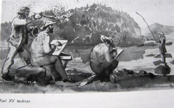 Karl XV tecknar