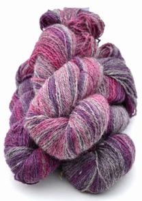 2-trådigt ullgarn - 6/2-01 Cerise-lila-grå