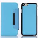 iPhone 6 Plus Wallet Case Magneto Window blue