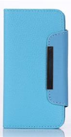 Samsung S4 Wallet Case Magneto Window blue