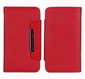 Samsung S4 Wallet Case Magneto Window red