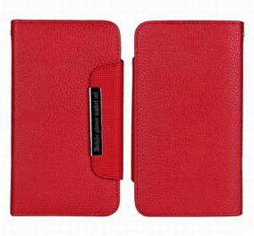 Samsung S5 Wallet Case Magneto Window red
