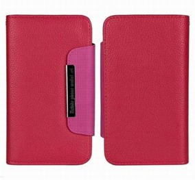 Samsung S4 Wallet Case Magneto Window pink