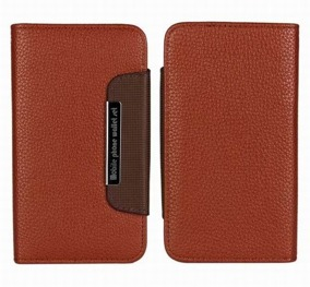 Samsung S4 Wallet Case Magneto Window brown