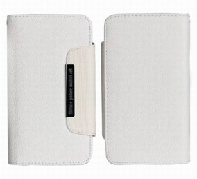 Samsung S4 Wallet Case Magneto Window white