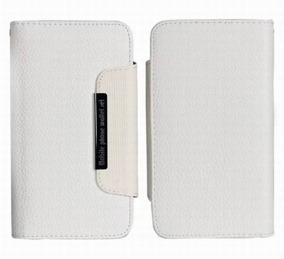 Samsung S5 Wallet Case Magneto Window white