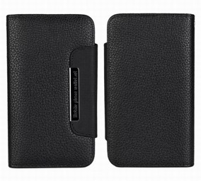 Samsung S5 Wallet Case Magneto Window black