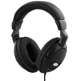 DELTACO hörlur med volymkontroll, 2,2m kabel, svart