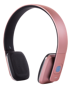 STREETZ Bluetooth-hörlurar med mikrofon, Bluetooth 4.1 LE, 8h speltid, 10m räckvidd - Rosa