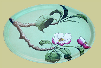 Bricka/Tray - Äppelblom/Apple Blossom - Oval/Oval Bricka/Tray - Äppelblom/Apple Blossom