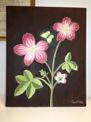 Målning/Painting: Fjärilsblomster/Butterfly Flower