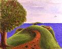 Målning/Painting: Den smala vägen/The Narrow Road