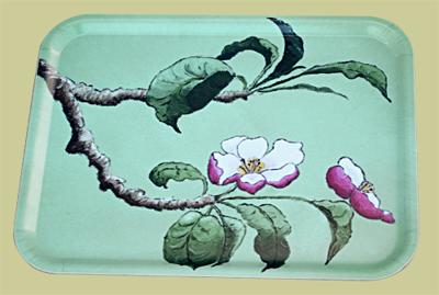 Bricka/Tray - Äppelblom/Apple Blossom - Rektangulär/Rectangular Bricka/Tray - Äppelblom/Apple Blossom