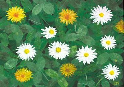 Poster A3 - Bland blommor och blad/Lovely summer - Poster - Bland blommor och blad/Lovely summer