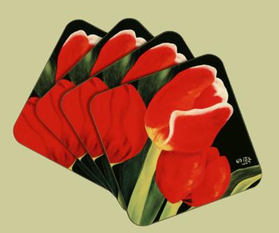 Glasunderlägg/Coasters - Vårlöftet/Spring Promise - Glasunderlägg/Coasters - Vårlöftet/Spring Promise