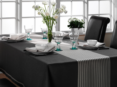 Duk/Cloth - Gillet/The Feast - Gillet/The Feast 160x300 cm - Blyertsgrå/Gray