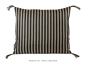 Kudde/Cushion - Bolster/Fetherbed - Kudde/Cushion Smalrand/Narrow stripes - svart/black