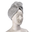 Bad/Bath - Turban - Turban: Vit-svart/White-black
