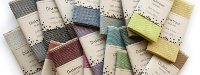 Dishcloths in different colors. Linen has the unique ability to absorb moisture better and then dry faster than any other natural material.