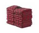 Handduk/Towel - Schack/Chess - Schack/Chess 50x70 cm: Röd-Svart/Red-Black