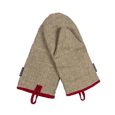 Köksvante/Kitchen glove - Köksvante/Kitchen glove: Natur-Röd/Natural-Red