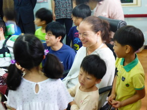 Was at a nursery with disabled children one of the days