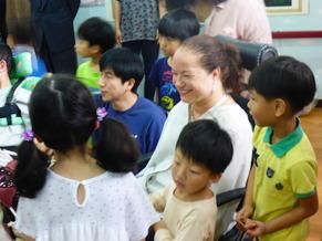 장애아동시설에 방문한 날.