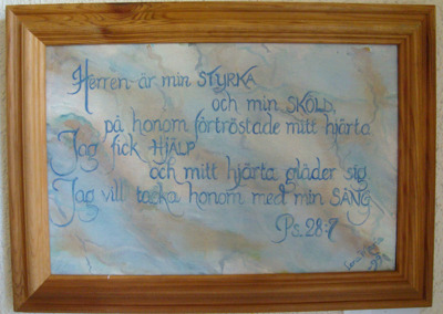 Målning/Painting: Ps. 28:7 - Ps. 28:7