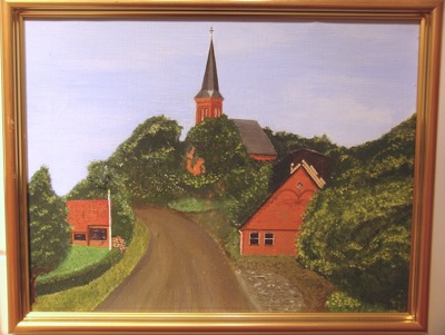 Målning/Painting: På genomresa i Tyskland/Traveling through Germany - På genomresa i Tyskland/Traveling through Germany