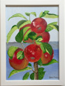 Målning/Painting: Äpple på gren/Apple on branch