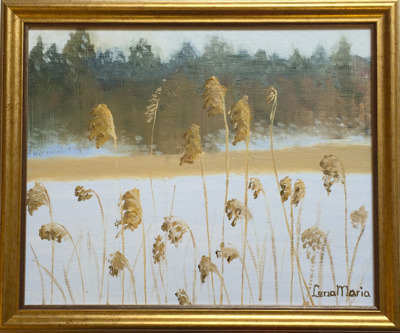 Målning/Painting: Vintersjö/Winter Lake - Vintersjö/Winter Lake