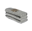 Bad/Bath - Handdukar/Towels, Linnefrotté/Linen Terry - Gästhandduk/Guest towel 35x55 cm: Vit-svart/White-black