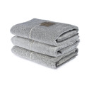 Bad/Bath - Handdukar/Towels, Linnefrotté/Linen Terry - Duschlakan/Shower towel 70x140 cm: Vit-svart/White-black