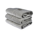Bad/Bath - Handdukar/Towels, Linnefrotté/Linen Terry - Badlakan/Bath towel 100x150 cm: Vit-svart/White-black