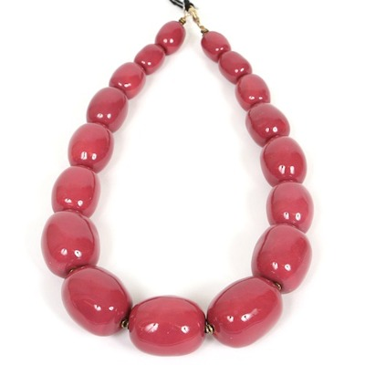 Halsband/Necklace - Charleston Big Beads - Halsband/Necklace Charleston - Pink