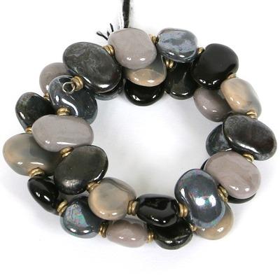 Armband/Bracelets - Flat - Armband/Bracelet Flat 3-strand - Mörk/Dark