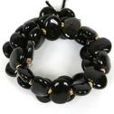 Armband/Bracelets - Flat - Armband/Bracelet Flat - Svart/Black