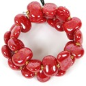 Armband/Bracelets - Flat - Armband/Bracelet Flat - Klarröd/Bright Red m.o.p.
