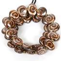 Armband/Bracelets - Flat - Armband/Bracelet Flat - Rost+Satäng Cream/Rust+Satin Cream