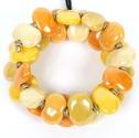 Armband/Bracelets - Flat - Armband/Bracelet Flat - Gul/Yellow Mix