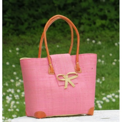 Väska/Bag - Languette Rabane-Leather - Väska/Bag Languette Small - Rosa/Pink