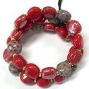 Armband/Bracelets - Tiny Smarty - Armband/Bracelets Smarty: Bright Red/Pigeon/Granite